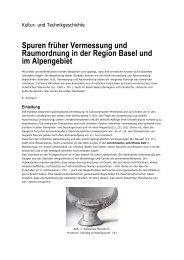 Spuren früher Vermessung und Raumordnung in der Region Basel ...
