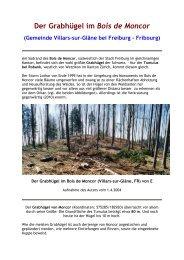 Der Grabhügel im Bois de Moncor - www . erratiker . ch