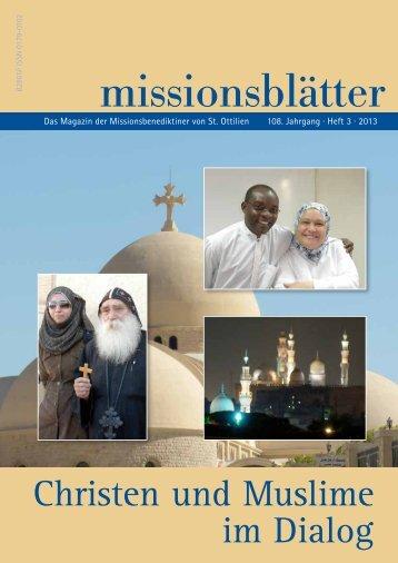 2013/3: Christen und Muslime im Dialog - Erzabtei St. Ottilien