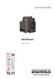 Herd-Kessel made in germany - Brunner