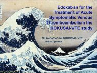 Treatment of venous thromboembolism, the Hokusai VTE study