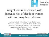 Being underweight increases death risk of CAD women by two-fold