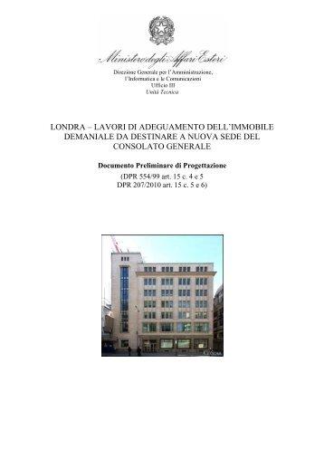londra – lavori di adeguamento dell'immobile demaniale da ...