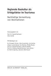 Regionale Baukultur als Erfolgsfaktor im Tourismus - Erich Schmidt ...