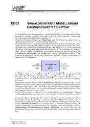 ED02 - Signalorientierte Modellierung - Fakultät Elektrotechnik und ...