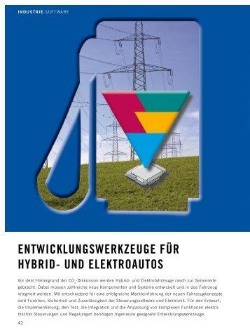 Entwicklungswerkzeuge für Hybrid- und Elektroautos - ETAS