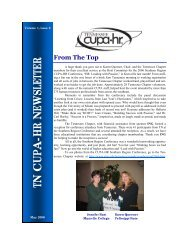 CUPA May 2006 Newsletter - East Tennessee State University