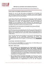 EGB Aufruf zu den Wahlen des Europäischen Parlaments ... - ETUC
