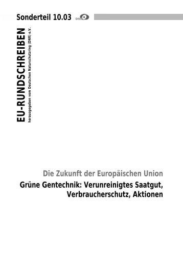 Grüne Gentechnik - EU-Koordination