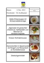 Rezept der Chochete - EULACH-CHUCHI Winterthur