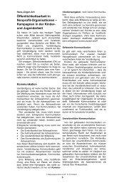 Öffentlichkeitsarbeit in Nonprofit-Organisationen – Kampagnen in ...