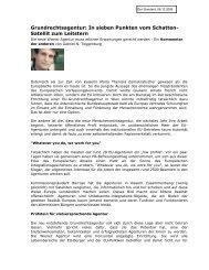 Grundrechtsagentur: In sieben Punkten vom Schatten ... - EURAC