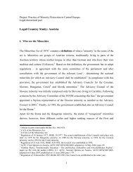 Legal Country Study: Austria - Eurac