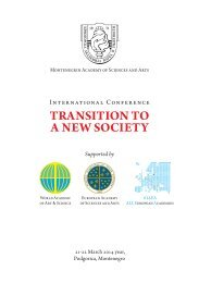transition to a new society - European Academy of Sciences and Arts