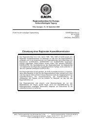 RC58-Einsetzung einer Regionalen Auswahlkommission