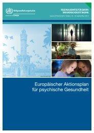 Europäischer Aktionsplan psychische Gesundheit - WHO/Europe