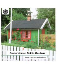 Contaminated soil in gardens - World Health Organization Regional ...