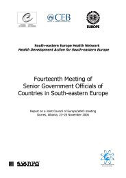 14th Meeting of the SEE Health Network, Durres - World Health ...