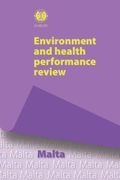 Environment and Health performance review - Malta - World Health ...