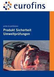 Produkt Sicherheit Umweltprüfungen - Eurofins