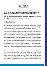 15 Jahre eurocom_Rede Prof. Bauerfeind_ MV_2013