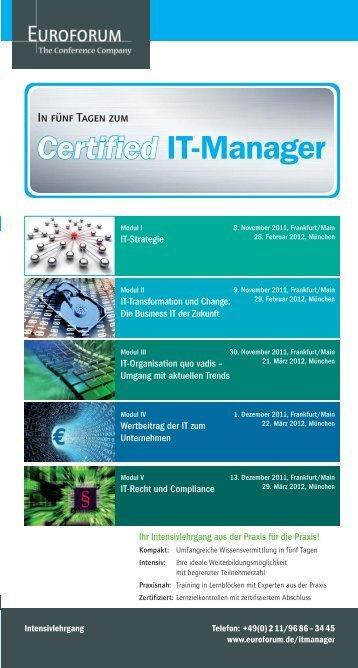 Certified IT-Manager - Euroforum