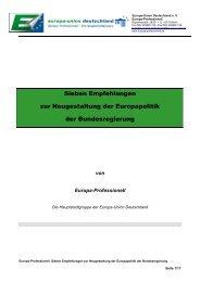 Sieben Empfehlungen zur Neugestaltung der Europapolitik