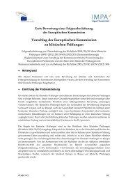 Erste Bewertung einer Folgenabschätzung der ... - Europa