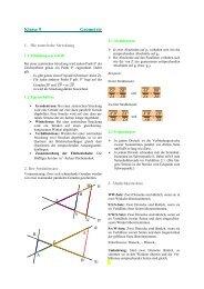 Formelsammlung Geometrie 9