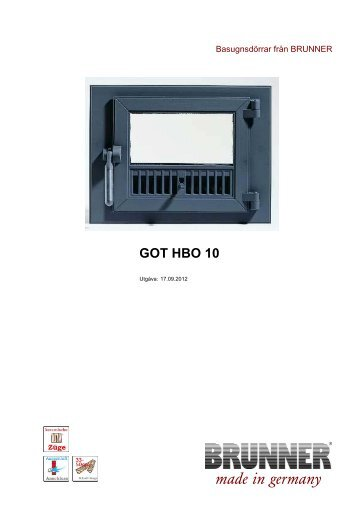 GOT HBO 10 made in germany - Brunner