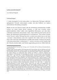Luthers Judenfeindschaft1 von Andreas Pangritz Vorbemerkungen2 ...