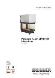 Panorama-Kamin 51/88/50/88 lifting doors made in germany - Brunner