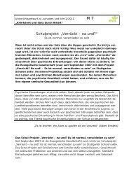 M7 Schulprojekt Verrückt - na und? - eva