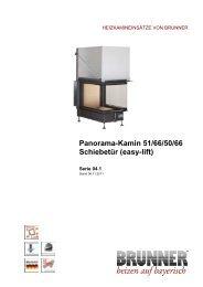 Panorama-Kamin 51/66/50/66 Schiebetür - Brunner