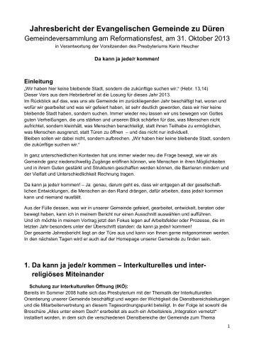 200 KB - Evangelische Gemeinde zu Düren
