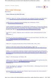 Seite 1 von 7 Otitis media Referenzen [evidence.de ...