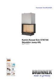 Kamin-Kessel Eck 57/67/44 Skjutdörr (easy-lift) - Brunner