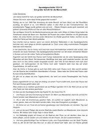 Apostelgeschichte 16,9-15 Ein großer Schritt für die Menschheit
