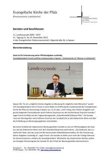 Beraten und beschlossen (PDF, 1.21 MB) - Evangelische Kirche der ...