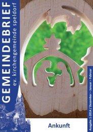 GEMEINDEBRIEF - Evangelische Kirchengemeinde Speldorf