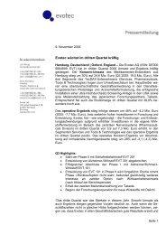 Evotec wächst im dritten Quartal kräftig (pdf - 204,91 kB)