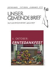 Gemeindebrief September/Oktober/November 2013 - Evangelische ...