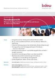 Veranstaltungsprogramm - EW Medien