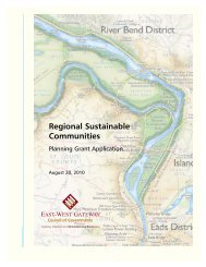 Regional Sustainable Communities - East-West Gateway Council of ...