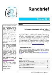 Rundbrief Oktober 2013 [pdf] - Eine Welt Netzwerk Hamburg eV