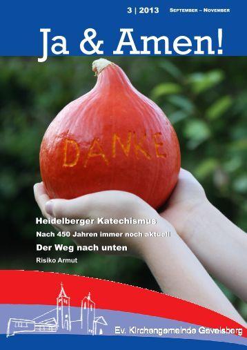 Gemeindebrief 3 2013 - der evangelischen Kirchengemeinde ...