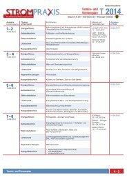 Themenplan und Anzeigenpreise 2014 - EW Medien