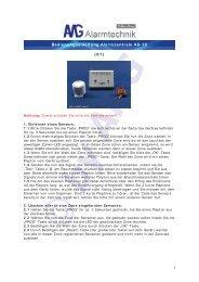 1 Bedienungsanleitung Alarmzentrale AS-10 (01) - Expertenwissen.eu