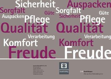 Qualitätspass - Ewald Schillig