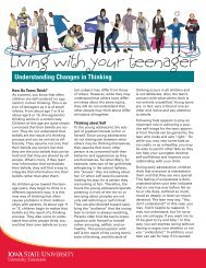 Living with your teenager - Iowa State University Extension and ...